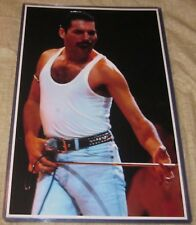 Freddy Murcury Queen Close Up Shot Replica Poster W /Protective Sleeve