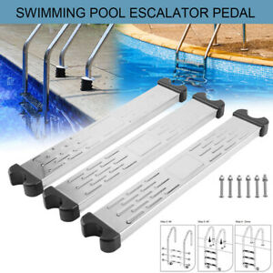 Swimming Pool Ladder Rung Steps Stainless Steel Replacement Anti Slip Ladder