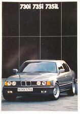 Prospekt BMW 7er E32 730i - 735i - 735iL - 1/88 -  48 Seiten!