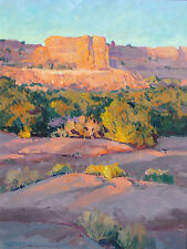 "Richard Hilker ""Canyonlands Sunset"" Original Oil Painting on Board, southwestern"