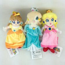 "3X Princess Peach Daisy Rosalina Super Mario Bros Plush Toy Stuffed Animal 8"""