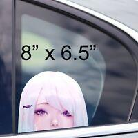 Cyberpunk Zero two Peeker Anime Girl Peeking Car Decal Car Bumper Vinyl Sticker