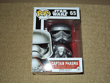 FUNKO, POP, CAPTAIN PHASMA, VAULTED, STAR WARS THE FORCE AWAKENS #65 FIGURE, NM