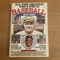 Baseball Book All Time Greatest Who's Who in Baseball 1972-1990 Babe Ruth Vtg