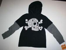 Magliette e maglie nero cappuccio per bambini dai 2 ai 16 anni 100% Cotone