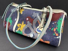 DOONEY & BOURKE Women's Multicolor Canvas Leather Trim Purse Handbag