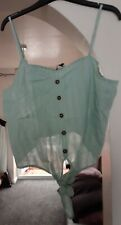 Belle Green Camidole Top Size 16 And 18 New