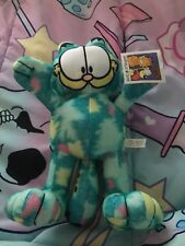 Tie Dye Blue Garfield Licensed Plush New With Tags 2018