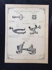 1888 Vintage Simmons Hardware Catalog Pg~Roller Skates & Skate Keys~ Ice Creeper