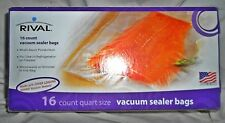 Rival 16 Count Quart Size Vacuum Sealer Bags