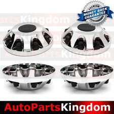 "11-17 Chevy Silverado DUALLY Chrome 17"" 2x Front Wheel Center Hub Cap Cover NEW"