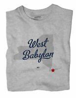 West Babylon New York NY T-Shirt MAP