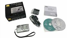Nikon COOLPIX S3500 20.1MP Silver Digital Camera with Accessories ORG Box photos