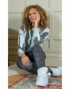 Soft Knit Camouflage Jumper  - Ladies Womens - Klass Collection