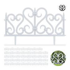 40 tlg. Beetzaun Set weiß, Dekozaun Ornament, Wegbegrenzung Rasenzaun Garten