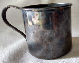 Antique Kids Oneida Tudor Plate Community Silverplate Small Mug Tea Cup Stein
