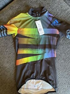 NEW Adidas Adistar Pride Maillot Cycling Form Fitting Jersey Men's Small S