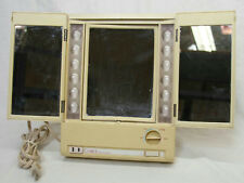 "12"" VINTAGE CLAIROL TRUE TO LIGHT LIGHTED MAKE UP MIRROR LM-7 WORKING! TESTED"