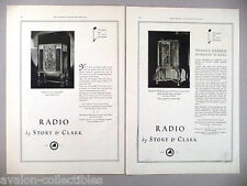 Story & Clark Radio PRINT AD - 1930 ~~ LOT of 2 diff. ads
