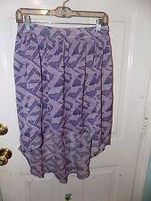 Converse One Star Purple Geometric Design High Low Skirt Size S Women's EUC