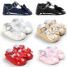 Baby Girl Patent Crib Shoes Infant Skimmer Mary Jane Flat Newborn to 18 Months