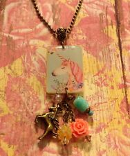 Unicorn Pastel Pendant Necklace HANDCRAFTED Cute Jewelry Fun Gift Party Favor