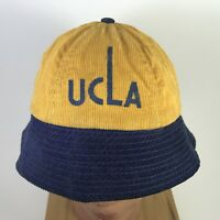 UCLA Bruins Bucket Hat Corduroy 1960's NCAA Good Condition Small Size Vtg