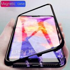 Magnético Absorción Metal Cristal Funda para Samsung Galaxy A7 2018 SM-A750