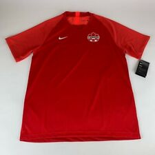 Canada FIFA Red Nike Dri Fit Soccer Jersey Mens Large New