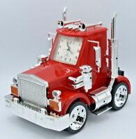 American Time Big Rig Red Semi Truck Alarm Clock w/Lights & Sound Taiwan NEW