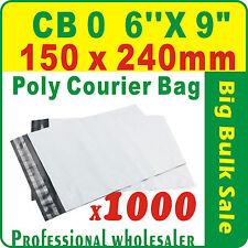 "1000 x CB0 150X240mm(6''X9"") Courier Bag Poly Mailer Satchel Lowest Price Gtee"