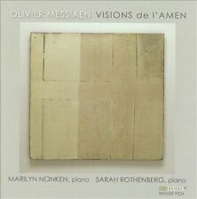 OLIVIER MESSIAEN Visions De L'Amen CD Bridge marilyn nonken / sarah rothenberg