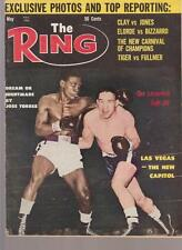 THE RING MAGAZINE DICK TIGER-GENE FULLMER BOXING HOFers COVER MAY 1963