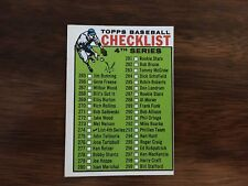 1964 Topps Baseball Card CHECKLIST 4TH SERIES (Unmarked) #274 EXMT