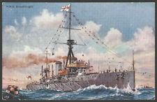 Royal Navy Postcard. Battleship HMS Dreadnought Vintage PC by Gale & Polden