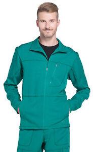 Dickies Dynamix DK310 Men's Zip Front Warm-up Jacket Medical Uniforms Scrubs
