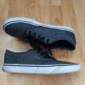 VANS dark heather gray canvas skateboarding shoes. Men's 8