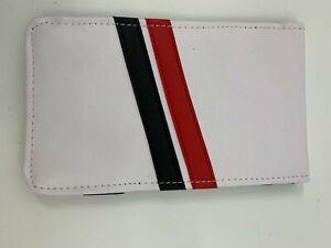 Sunfish Golf Score Card Holder White Red Black Stripes S063