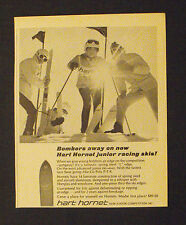 1967 Hart Hornet Junior Racing Skis Vintage Sports Promo Print AD