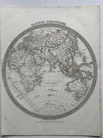 1837 Eastern Hemisphere Original Antique Map by Alexander Findlay