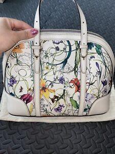 Gucci Floral Leather Bag Genuine Excellent Condition