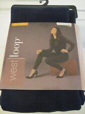 New WEST LOOP Navy Fleece Leggings Women's One Pair US Size M/L 8-12