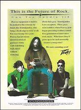 Soundgarden Chris Cornell Kim Thayil 1992 Peavey Guitar & Amps 8 x 11 ad print