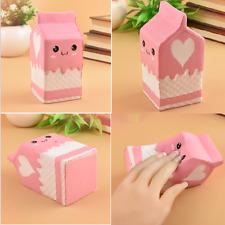 Squishy Milk Carton Phone Straps Slow Rising Soft Stress Reliever Bread Toy Kids