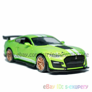 1/32 Ford Mustang Shelby GT500 Model Car Diecast Toy Vehicle Collection Green