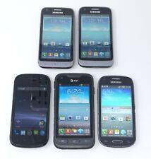 Lot of 5 Various Working Samsung Smartphones - L300 / Nexus S / I547 / T399N