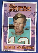 1971 Topps Football Poster Bob Griese #7 Miami Dolphins