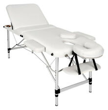 mobile Alu Massageliege Massagetisch Massagebank 3 Zonen weiß Tasche