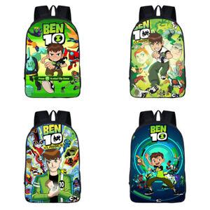 16'' Ben 10 Backpack Kids Boys Cartoon School Bag Shoulder Rucksack Bag Gift