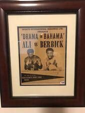 Muhammad Ali Vintage Signed Autographed Photo Last Fight PSA DNA